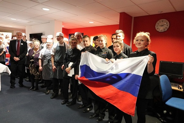 Students of Exeter College who prepared and served our really excellent Russian Xmas Dinner. — with Peter Barker and LordMayor Exeter at @34 Restaurant (Exeter College)