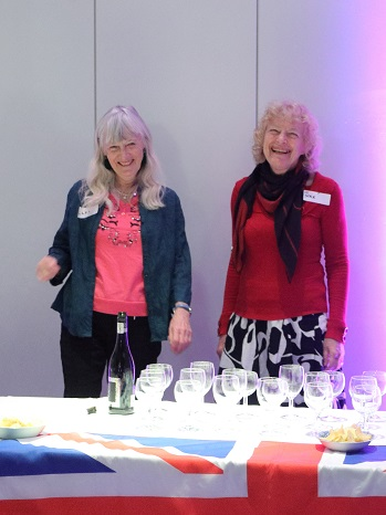 Our members Clare and Joyce serving refreshments at the Opening / Private Viewing of the Exhibition 'Exeter/Yaroslavl - A Photographic Essay of Two Cities' at Royal Albert Memorial Museum, Exeter