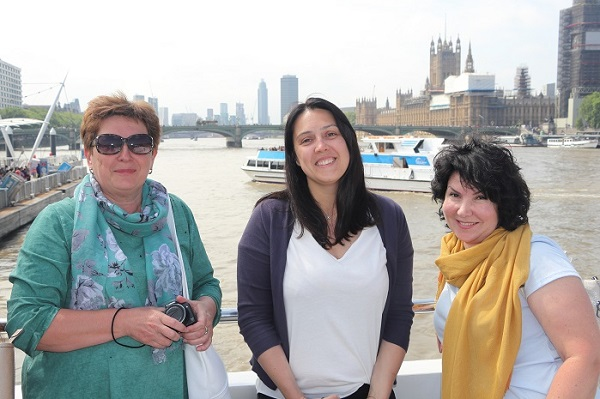 Irina, Nina and Elena — with Nina Chernushkina at London Eye River Cruise