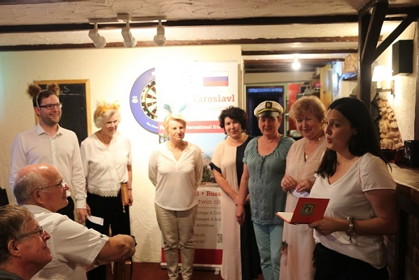 Russian Guests entertain us. — with ирина ефимова, Ludmilla Korbut and Nina Chernushkina at The New Inn Broadclyst