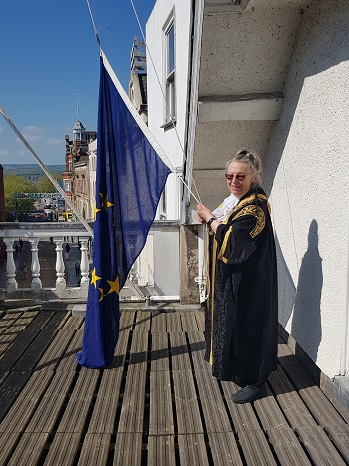 European Day — with Lord Mayor of Exeter at Exeter Guildhall
