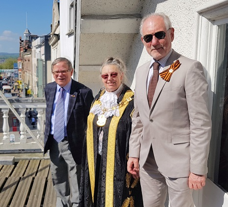 Europe Day — with Peter Barker and Lord Mayor of Exeter at Exeter Guildhall.