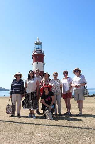 Yaroslavl Guests visit Plymouth — with Nina Chernushkina and Ludmilla Korbut at Smeaton's Tower