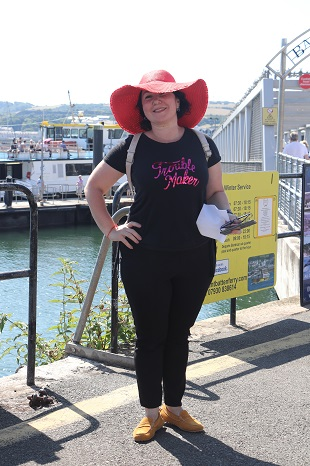 Elena Anfilofyeva from Yaroslavl — at Plymouth Boat Trips