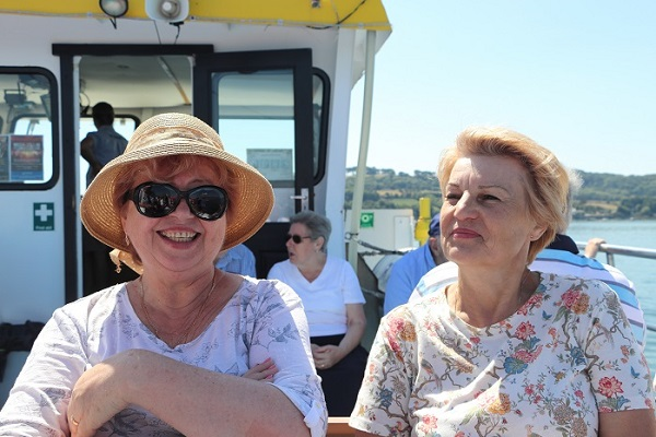 Antonina Kochetkova — with Ludmilla Korbut at Plymouth Boat Trips
