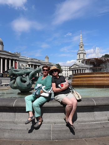 Our Yaroslavl guests visit London. — with Ludmilla Korbut at Trafalgar Square