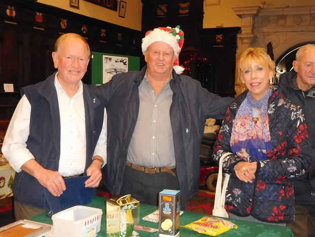 Some of our excellent volunteers at Russian Xmas Fayre — with Robert Bradshaw and Jeanette Barker at Exeter Guildhall