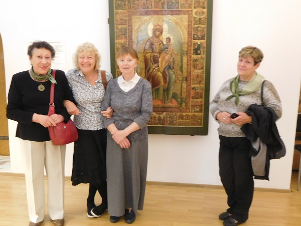 Joyce and John visit Museum of Icons — with Irina Peneva in Yaroslavl