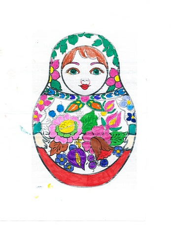 Winning Entry Matryoshka Doll Colouring Competition