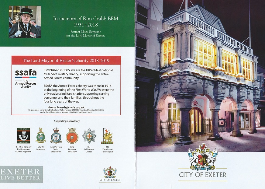 Christmas Card from Lord Mayor of Exeter