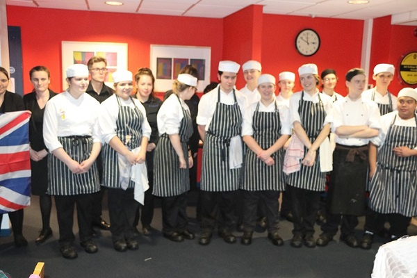 Some of the young students at Exeter College who prepared and served our special Russian Christmas Dinner