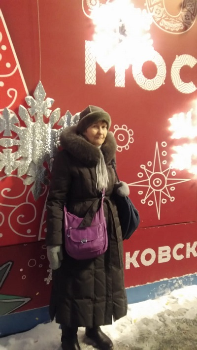 Ludmila Ditmar in Moscow. Ludmila is a member of our partner organisation 'Yaroslavl Exeter Friendship Society'